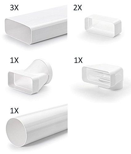 Naber COMPAIR® Flachkanal Set-3/flow 150er / 8-teiliges Set mit Luftleitkörpern