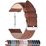 Fullmosa Cinturino per Orologio, Cross Cinturini in Pelle 20mm, Cinturino Orologio per Huawei iWatch 2/Samsung Galaxy Watch 42mm/Samsung Gear S2 Classic/Amazfit Bip, per Uomo/Donna