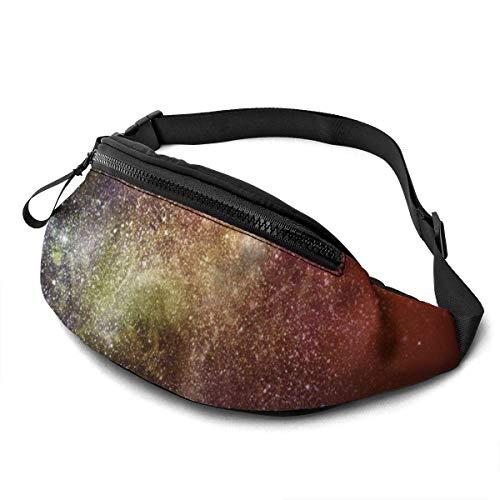 AOOEDM Star nebulas y Galaxias Cinturón para Correr Riñonera Moda Riñonera para Hombres Mujeres Deportes Senderismo