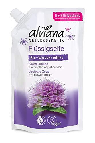 Alviana Naturkosmetik Flüssigseife Bio-Wasserminze 300 ml Nachfüllbeutel