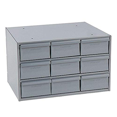 Durham 004-95 Gray Cold Rolled Steel Vertical Storage Cabinet 17-14 Width x 10-78 Height x 11-58 Depth 9 Drawer