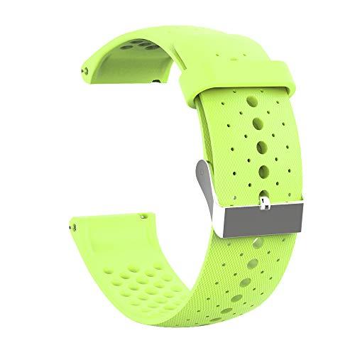 RYRA Correa de reloj de silicona compatible con Polar Vantage M, correa de repuesto transpirable para rastreador de actividad deportiva, 22 mm
