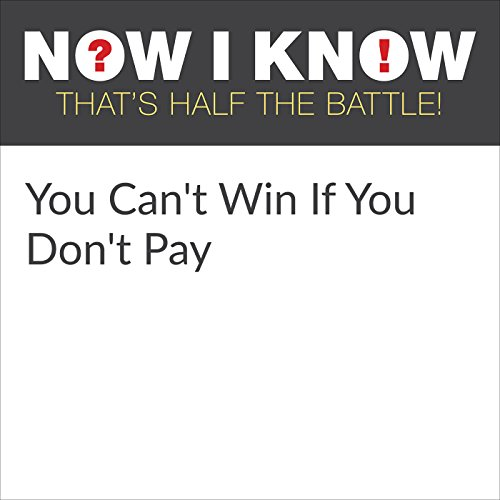 You Can't Win If You Don't Pay audiobook cover art
