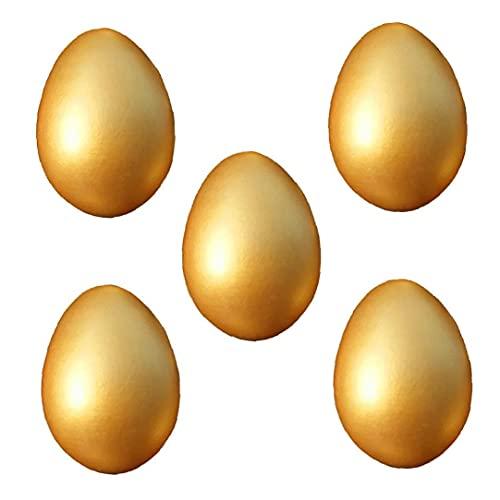 Liadance Huevos De Pascua De Madera Huevo De Oro del Juguete De DIY Pintura 5pcs Decoración del Huevo De Pascua Pascua Regalo
