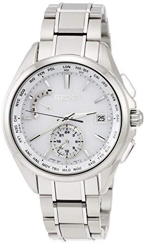 [セイコーウォッチ] 腕時計 ブライツ BRIGHTZ(ブライツ) ソーラー電波 チタン デュアルタイム表示 ワールドタイム表記 サファイアガラス SAGA283 メンズ シルバー