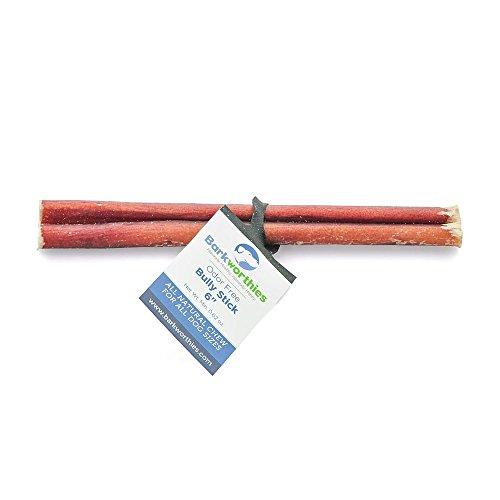 "Barkworthies Odor-Free American Bully Stick, 6"""