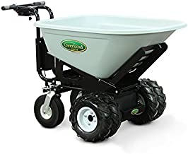 Overland Electric Powered Cart with 8 Cubic Foot Hopper on Heavy Duty 27-Inch Chassis, 750-Pound Capacity
