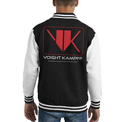 Cloud City 7 Blade Runner Voight Kampff Kid's Varsity - Chaqueta Black/White (7-8 Años) M