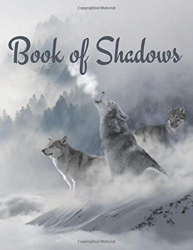 Book of Shadows: Spellbook Notebook - Witch Journal - Grimoire Diary - Wolf note book - Composition book - Lined blank book