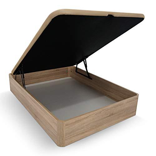 Duérmete Online Canapé Abatible Madera Gran Capacidad Cajón Grosor 30mm con Tapa Reforzada y Transpirable, Cambria, 90 x 190