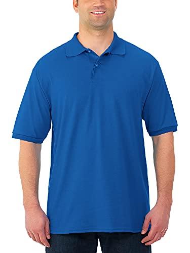 Jerzees Men's SpotShield Stain Resistant Polo Shirts (Short & Long, Short Sleeve-Royal Blue, XX-Large