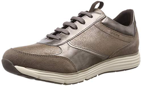 Geox Damenschuhe DONNA DYNAMIC D6405A Sportlicher Damenhalbschuh und Sneaker (TAUPE), EU 38