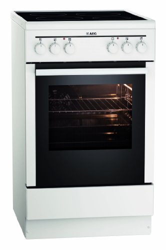 AEG 40095VA-WN 50 cm Standherd mit Glaskeramik-Kochfeld / Grillfunktion / A