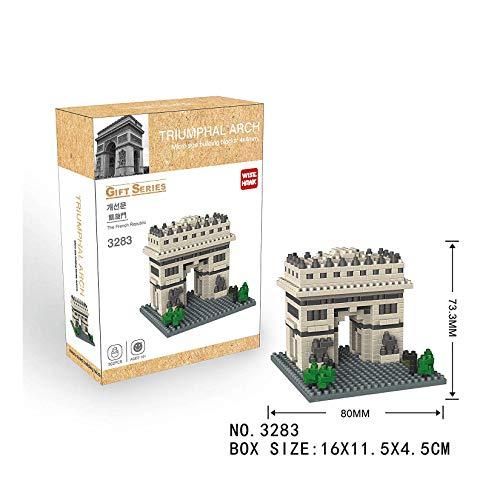 Ludokubo Wise Hawk Micro Blocks Arco del Triunfo Gift Series - 502 Piezas