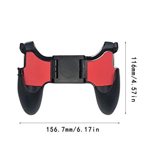 Huy 5In1 Mobile Game Controller Gamepad Koenlos Fire L1 R1 Lö Gaming Grip Joyi Für iPhone 4,5-6,5-Zoll-Handys Aus