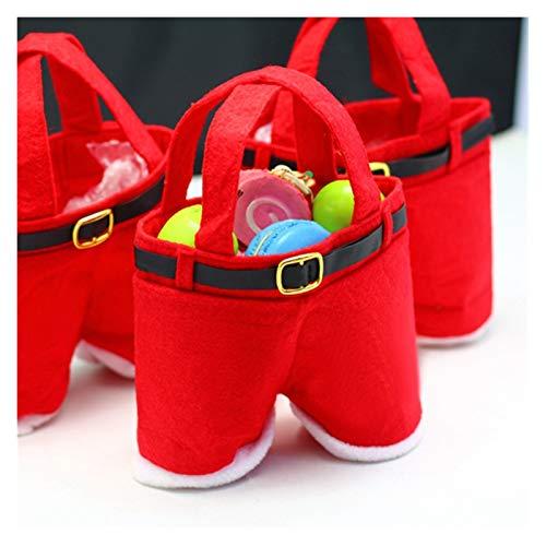 JLZK Fiabilidad de Seguridad Feliz Navidad Regalo Tratamiento Dulces Botella de Vino Bolso Santa Claus Suspender Pantalones Pantalones Decoración Bolsas Papel (Product Size : L)