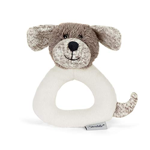Sterntaler 3301961 Greifling Hund Hanno, Alter: 0-36 Monate, 14 cm, Farbe: Brau/Weiß
