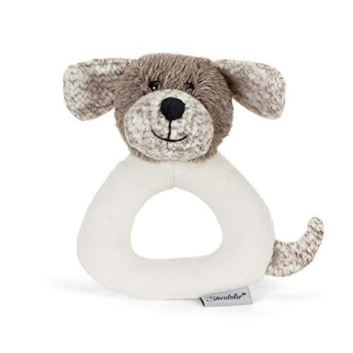 Sterntaler Greifling Hund Hanno, Alter: 0-36 Monate, 14 cm, Farbe: Brau/Weiß