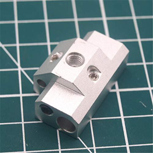 XBaofu 1pc Doble Extrusión + Cyclops Bloque Calentador 20 mm Distancia de actualización del Multicolor Cyclops 2 en 1 hacia Fuera Aluminio Bloque Calentador