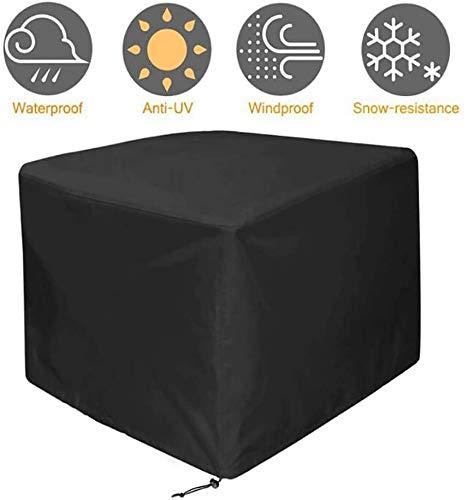 Cubre muebles de jardín de protección de objetos, muebles de patio, impermeable, a prueba de polvo, anti UOxforFabric para exteriores, mesa de jardín rectangular, 242 x 162 x 100 cm,, 135*135*75cm