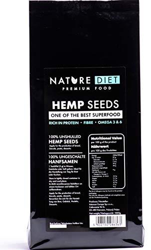Nature Diet - Semillas de cáñamo, 1 kg