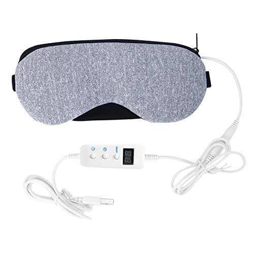MOVKZACV Beheizte Augenabdeckung zur Linderung von Schlaflosigkeit, Wärmender Nachtmassageabdeckung, Elektrisch USB Beheizte Hot Pads, Einstellbare Temperaturregelung