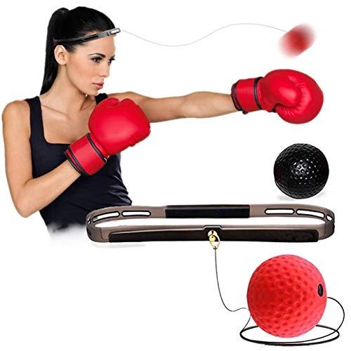 WJY Boxing Reflex Ball, Boxen Training Ball Set Reflex Fightball Speed Ball Reaktionskugeln Hand-Augen-Trainingsgeräte für Kinder Erwachsene