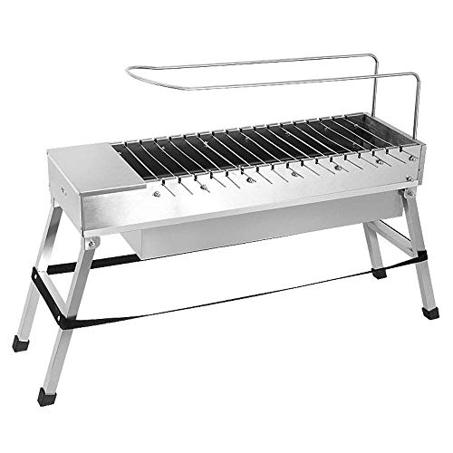 LEOO Automatic BBQ Grill Outdoor Household Electric Flip Stainless Steel Barbecue Machine Charcoal BBQ Tool