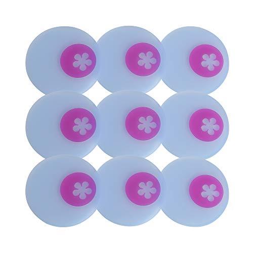 Kochblume Multi-Untersetzer 9er-Set, Glasuntersetzer, Löffelablage, Topfuntersetzer, Handy Ablage, Flaschenuntersetzer, Silikon Pad, spülmaschinenfest   in der pinken Box (transparent-pink)