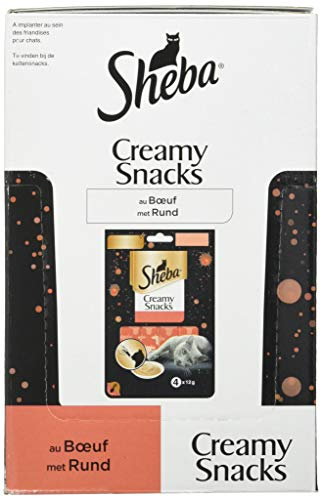 Sheba Creamy Snack per gatti adulti – snack cremoso – al pollo – 20 x 4 x 12 g – snack per gatti