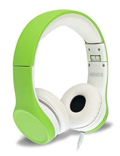 Nenos Kids Headphones Children's Headphones for Kids Toddler Headphones Limited Volume (Green)