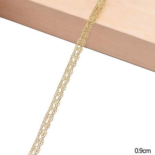 5/10 Yards gouden Lace Trim lint Curve Lace stof naaien duizendpoot gevlochten Lace bruiloft Craft DIY kleding accessoires Home Decor, B07, 10 Yards