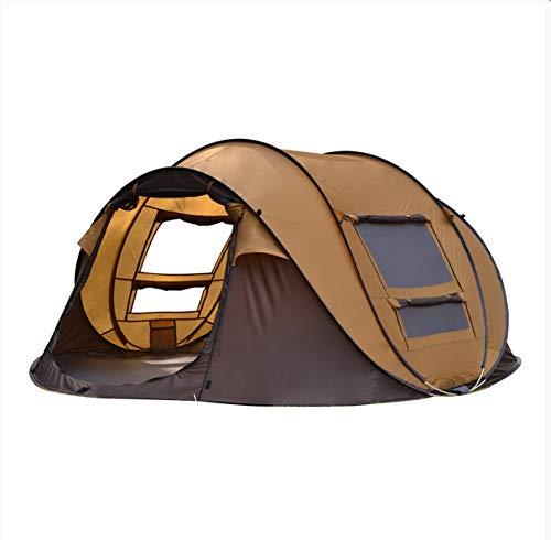 damuzhi Outdoor Automatic Tents 3-4 Personen Schnell Öffnen, Um EIN Bootszelt Zu Bauen Multi-Personen-Camping-Park-Zelt Gegen Regen 3-4 Personen Khaki-Kaffee