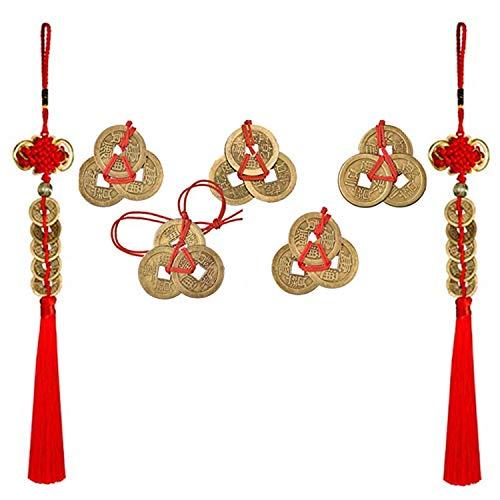 PPX 5 Ensembles Pièces Chinoises de Fortune Coins de Feng Sh