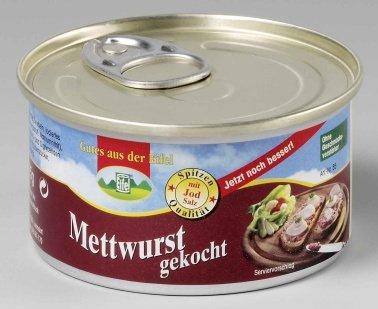 12 Dosen a 125g Dosenwurst, 6 Sorten je 2 Dosen, insgesamt 1,5 kg , Lebensmittelvorrat Konserven - 4