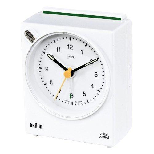 Braun 66007Wecker Voice Control Weiß