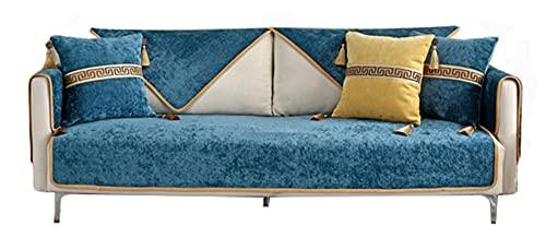 BEYRFCTA Sofá Fundas Universales Fundas de Toalla de sofá Protector de Muebles Fundas Sofa Chaise Longue Cubre Fundas para Sofa Antideslizante -Light Blue_110 * 210cm