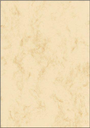 SIGEL DP372 Marmor-Papier beige, A4, 100 Blatt, Motiv beidseitig, 90 g - weitere Farben