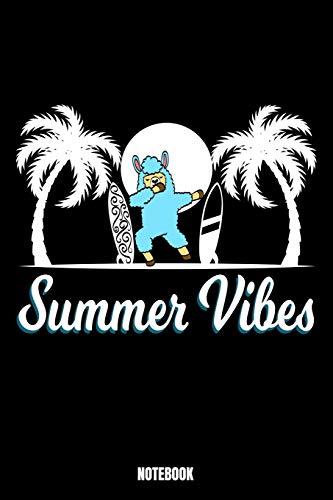 Summer Vibes Notebook: Summer Notizbuch: Notizbuch A5 karierte 110 Seiten, Notizheft / Tagebuch / Reise Journal, perfektes Geschenk für Sie, Ihre ... für Surfer. Dieses Notebook wird mit Sicher