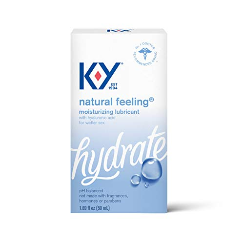 K-Y Natural Feeling with Hyaluronic Acid, Moisturizing Water Based Formula Free from Fragrances, 1.69 Fl Oz