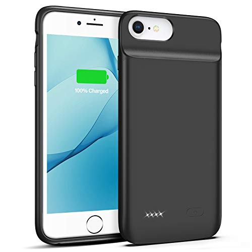 OMEETIE Battery Case for iPhone 6 Plus 6s Plus, 5000mAh Portable Rechargeable Charging Case for iPhone 6 Plus 6s Plus (5.5 inch) Protective Power Charging Case(Black)