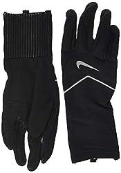 commercial Nike Dry Element Men's Running Gloves (XL, Black / Silver) nike warm gloves