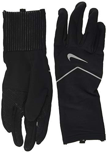 Nike Men's Dry Element Running Gloves (XL, Black/Silver)