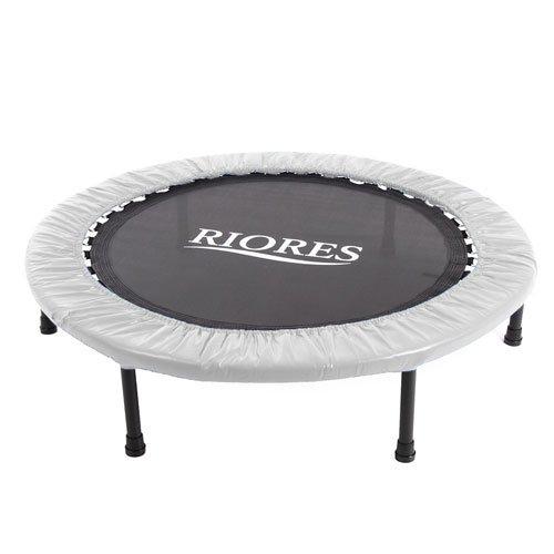 RIORES (リオレス) トランポリン 102cm 耐荷重110kg 家庭用 (シルバー)