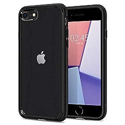【Spigen】 iPhone8 ケース / iPhone7 ケース 対応 背面クリア 米軍MIL規格取得 耐衝撃 すり傷防止 ワイヤレス充電対応 シュピゲン ウルトラ・ハイブリッド 2 042CS20926 (ブラック)
