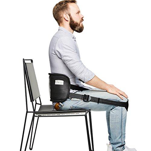 sit right Rückengurt für gesundes Sitzen - Geradehalter & Haltungstrainer für eine aufrechte Haltung - Rückentrainer zur Haltungskorrektur für Damen & Herren - schwarz - Einheitsgröße