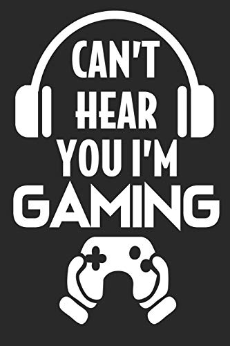 Gamer I can't hear you Gaming Headset: Dot Grid Notebook (6x9 inches) with 120 Pages