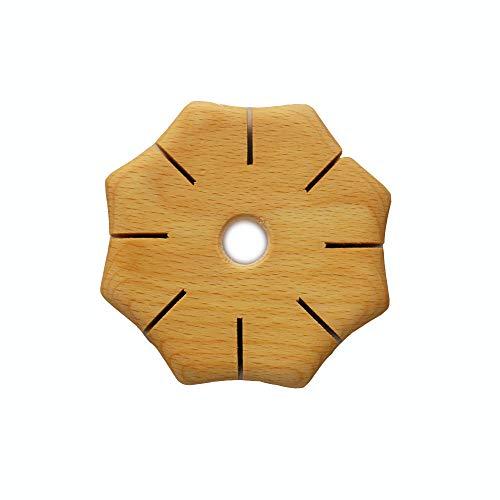 Knüpfscheibe aus Holz | Knüpfstern Holz | Spielzeug und Beschäftigung für Kinder