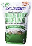 Nutri Bites Beef Liver Dog Cat Treats Freeze Dried High Protein Premium Quality Single Ingredients 17.6 Oz