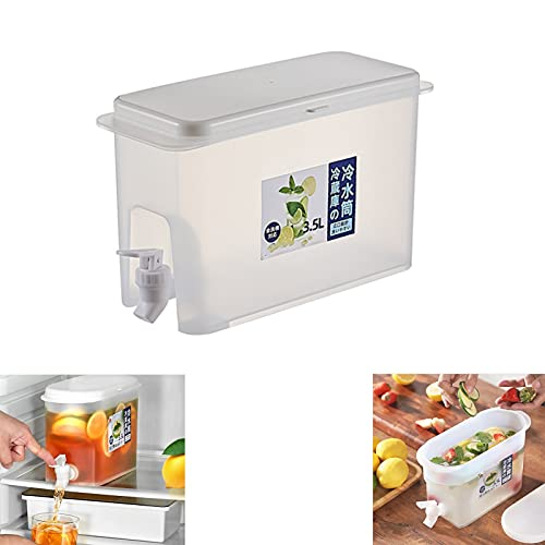 XFSSFWB Cubo de Jugo con spout -3500ml Dispensador de Bebidas con Espiga, dispensadores de Bebidas heladas con Almacenamiento for Jugo Café de Vino de té Helado 9.84 x 4.33 x 7.08 Pulgadas